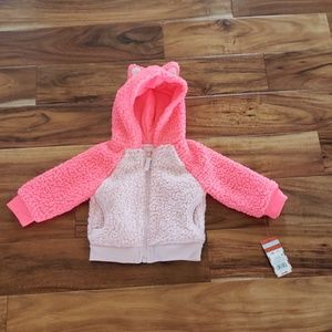 Cat & Jack Baby Girl Fleece Jacket 12M